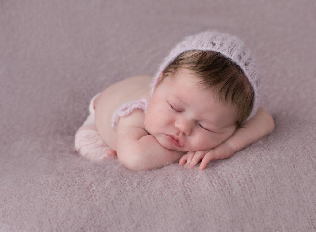Newborn photo shoot sutton coldfieldbaby girl in pink